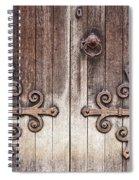 Old Wooden Door Spiral Notebook