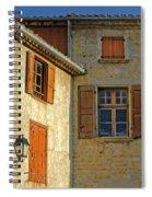 Orange Windows In Provence Spiral Notebook