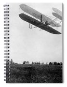 Orville Wright In Wright Flyer, 1908 Spiral Notebook