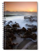 Overwhelmed By The Sea Spiral Notebook