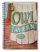 Owl Tavern Spiral Notebook