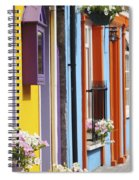 Painted Buildings On Main Street In Spiral Notebook