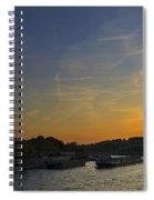 Parisian Sunset. Spiral Notebook