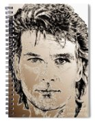 Patrick Swayze In 1989 Spiral Notebook