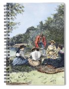 Picnic, 1885 Spiral Notebook
