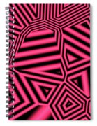 Pink And Black Abstract Spiral Notebook