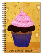 Pink Frosted Cupcake Spiral Notebook