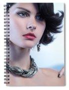 Portrait Of A Beautiful Woman Wearing Jewellery Spiral Notebook
