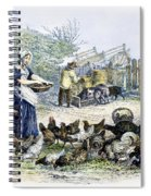 Poultry Yard, 1847 Spiral Notebook