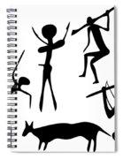 Primitive Art - Various Figures Spiral Notebook