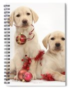 Puppies At Christmas Spiral Notebook