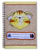 Quilted Cat  Spiral Notebook