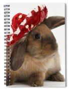 Rabbit Wearing A Hat Spiral Notebook