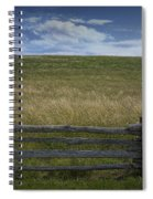 Rail Fence And Field Along The Blue Ridge Parkway Spiral Notebook