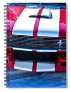 Red 1966 Ford Mustang Shelby Spiral Notebook