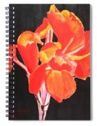 Red Canna Spiral Notebook