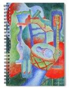 Red Guitar Spiral Notebook