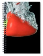 Red Pepper Falling Into Water Spiral Notebook
