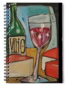 Red Wine And Cheese Poster Spiral Notebook