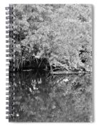 Reflections On The North Fork River In Black And White Spiral Notebook