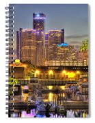 Renaissance Center Detroit Mi Spiral Notebook