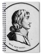 Rene Descartes, French Polymath Spiral Notebook