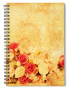 Retro Flower Pattern Spiral Notebook