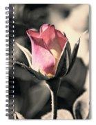 Rita Rosebud Pink Spiral Notebook