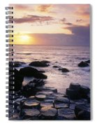 Rocks On The Beach, Giants Causeway Spiral Notebook