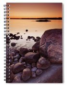 Rocky Shore At Twilight Spiral Notebook