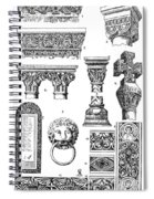 Romanesque Ornament Spiral Notebook