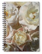 Romantic White Roses Spiral Notebook