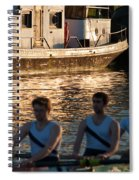 Rowers At Sunset Spiral Notebook