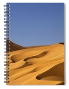 Sand Dune Against Clear Sky Spiral Notebook