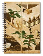 Scenes From The Tale Of Genji Spiral Notebook