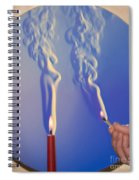Schlieren Image Of A Candle And Match Spiral Notebook