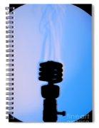 Schlieren Image Of A Hot Light Bulb Spiral Notebook