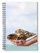 Seashell In Hand Spiral Notebook