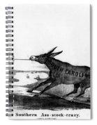 Secession Cartoon, 1861 Spiral Notebook