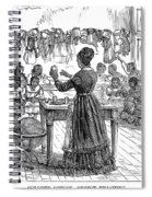 Segregated School, 1870 Spiral Notebook