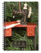 Sewing Machine Ornament Spiral Notebook