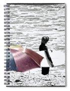 Surfer Umbrella Spiral Notebook