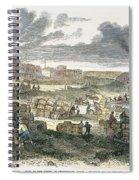 Shreveport Levee, 1872 Spiral Notebook
