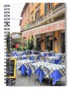 Sidewalk Cafe In Italy Spiral Notebook