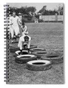 Silent Film Still: Sports Spiral Notebook