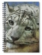 Snow Leopard Painterly Spiral Notebook