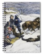 Snowstorm In The Country Spiral Notebook