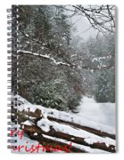 Snowy Fence Spiral Notebook