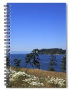 Sooke Harbour And The Strait Of Juan De Fuca Spiral Notebook