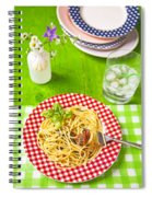 Spaghetti Al Pesto Spiral Notebook